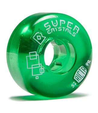 Ricta Super Crystals Skateboard Wheels 52mm/99A Clear Green