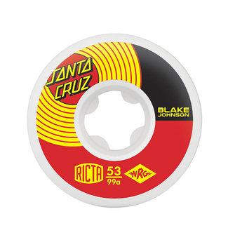 Ricta Naturals Blake Johnson Pro Skateboard Wheels 53mm/99A White
