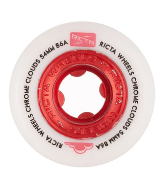 Ricta Chrome Clouds All Terrain Skateboard Cruiser Wheels 54mm/86A Red