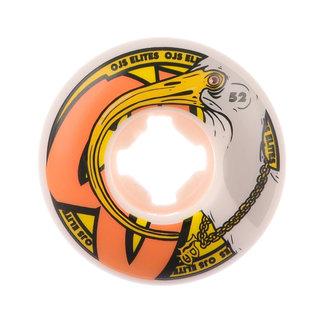 OJ Wheels Elite Long Beeks Pro Skateboard Wheels 53mm/101A White