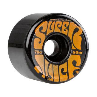 OJ Wheels Super Juice Cruiser Longboard Wheels 70mm/78A Black