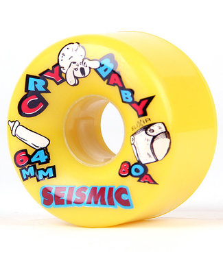 Seismic Cry Baby Cruiser Longboard Wheels 64mm/80A Yellow