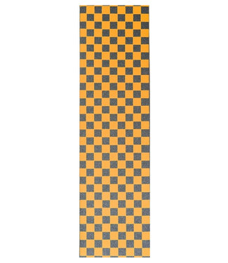"Steez Orange Checkerboard Griptape 9"""