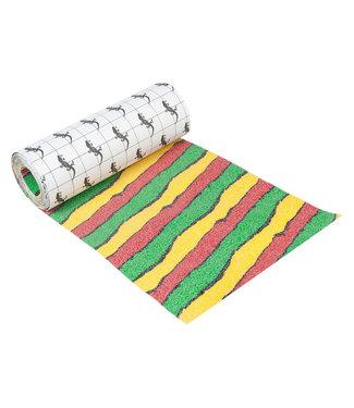 "Steez Rasta Stripes Downhill Longboard Griptape 9"""