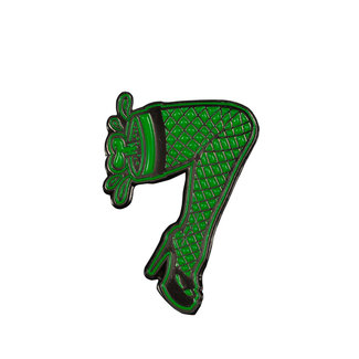 Creature Burlesque Push Back Pin Green
