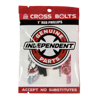 "Independent Genuine Parts 1"" Phillips Hardware 9pack Black/Red"