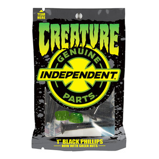 "Creature Genuine Parts 1"" CSFU Phillips Hardware 8pack Black/Green"