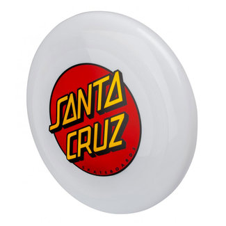 Santa Cruz Dot Flying Disk Frisbee White