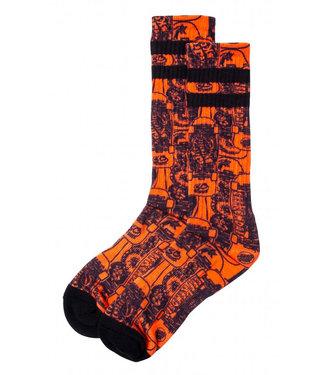 Santa Cruz Kendall Catalog Sock Orange/Black