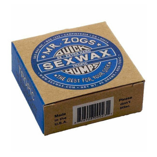 Sex Wax Surf Wax 6x Extra Hard Tropic (BASECOAT) Blue 26°C+