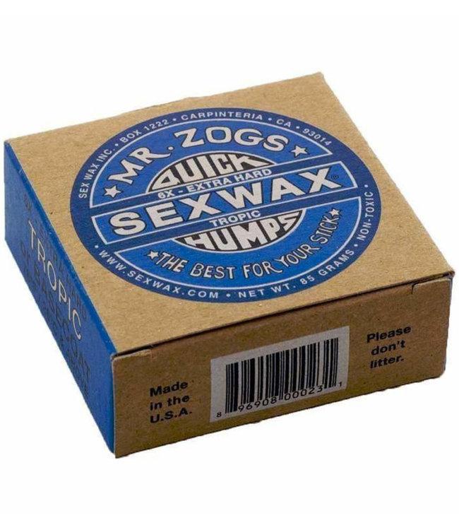 Sex Wax Surf Wax 6x Extra Hard Tropic (BASECOAT) Blue 26°C+