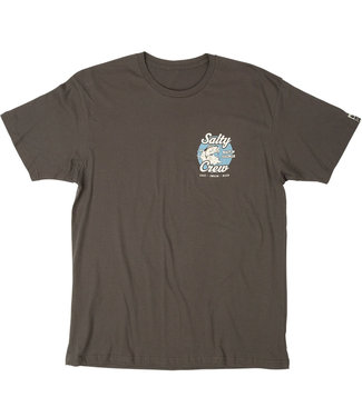 Salty Crew Bait And Tackle Shortsleeve Tee Cool Grey