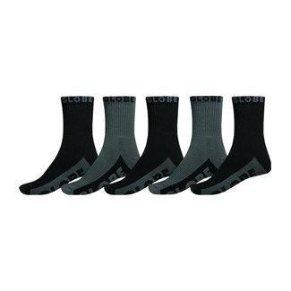 Globe Black/Grey Crew Socks 5Pk