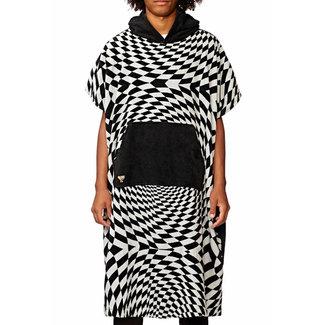 Globe Cof Poncho Towel Vortex Black