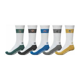 Globe Team Crew Socks 5 Pack Assorted
