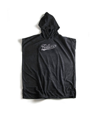 Follow Hooded Towelie Poncho Black