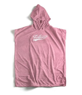 Follow Hooded Towelie Poncho Pink
