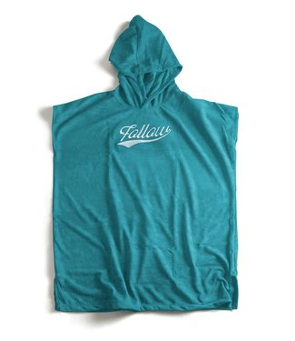 Follow Hooded Towelie Poncho Teal
