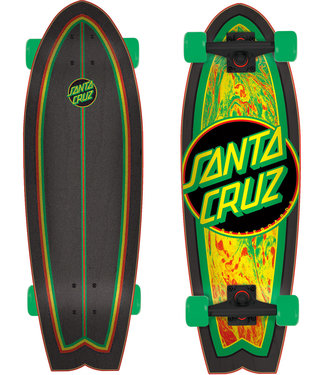 "Santa Cruz Rastafied Dot 27.7"" Complete Cruiser"