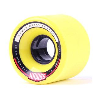 Hawgs Chubby Longboard Wheels 60mm 78A Yellow
