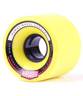Hawgs Chubby Longboard Wheels 60mm 78A Yellow