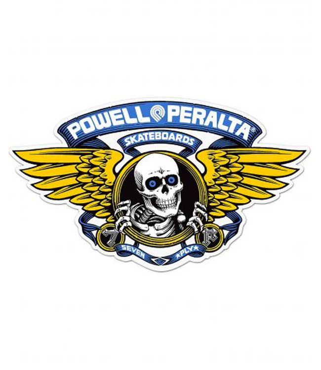 "Powell Peralta 6.5"" Winged Ripper Blue Sticker"