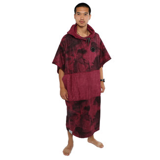 Mystic Poncho Allover Top Oxblood Red