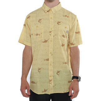 Salty Crew Horizon Shortsleeve Uv Woven Yellow