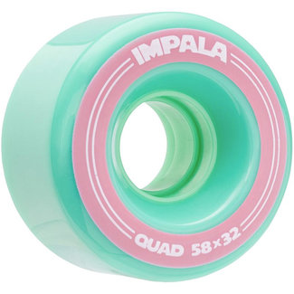 Impala Replacement Wheels 4pk 58MM Aqua