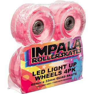 Impala Light Up Wheel 4pk Pink