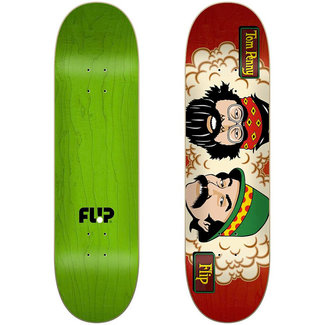 "Flip Penny Toms Friends Stained 8.25"" Skateboard Deck Red"