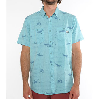 Salty Crew Horizon Shortsleeve UV Woven Dusty Blue