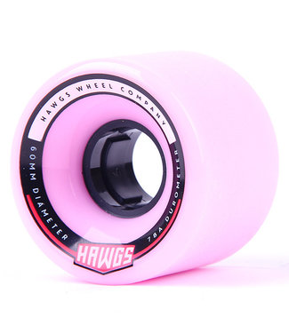 Hawgs Chubby Longboard Wheels 60mm 78A Pink