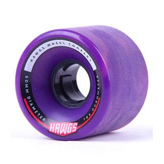 Hawgs Chubby Longboard Wheels 60mm 78A Purple