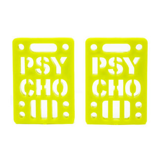 "Psycho Soft Risers 1/8"" (Set of 2) Yellow"