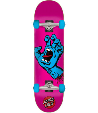 "Santa Cruz Screaming Hand 6.75"" Complete Skateboard Pink Blue"