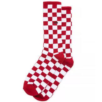 Vans Checkerboard Crew Socks II Red-White Check
