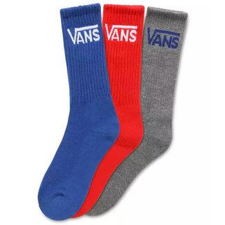 Vans Classic Crew Socks 3Pk Racing Red