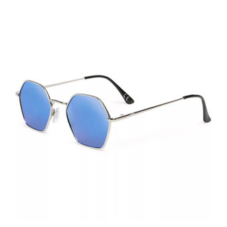 Vans Right Angle Sunglasses Silver/Blue Mirror Lens