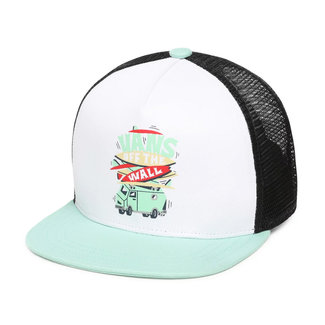 Vans Boarded Up Trucker Cap Boys Dusty Jade Green