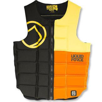 Liquid Force Flex Comp CE Impact Vest Black Yellow Orange