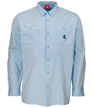Santa Cruz Screaming Mini Hand L/S Shirt Work Blue