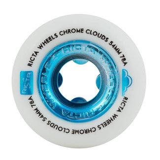 Ricta Chrome Clouds All Terrain Skateboard Wheels 52mm/78A White