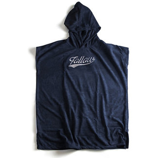 Follow Hooded Towelie Poncho Navy L