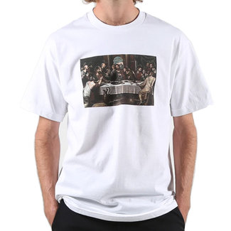 Pizza Skateboards Last Supper White T-Shirt