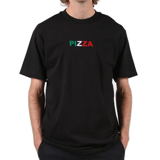 Pizza Skateboards Tri-Logo Black T-Shirt