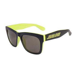 Santa Cruz Dazed Sunglasses Black/Safety Green