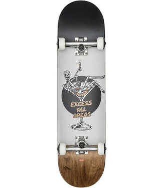 Globe G1 Excess 8.0 Skateboard Complete White/Brown