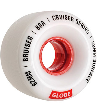Globe Bruiser Wheels 62mm 88A White Red