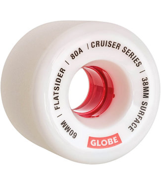 Globe Flatsider Longboard Wheels 60mm 80A White Red